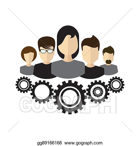 Teamwork clipart team structure. Vector management ceo icon