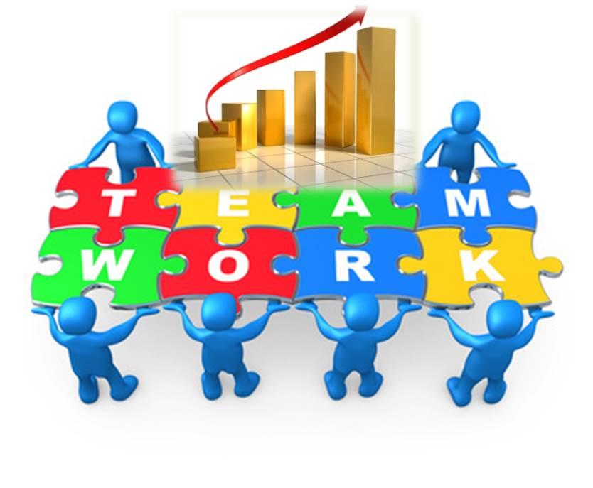 Autonomous ensuring business success. Teamwork clipart team structure