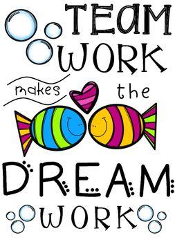 Teamwork clipart teamwork quote. Team work classroom class