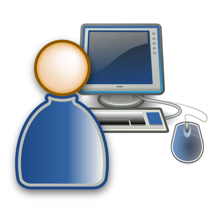 Icon free icons and. Technology clipart computer user