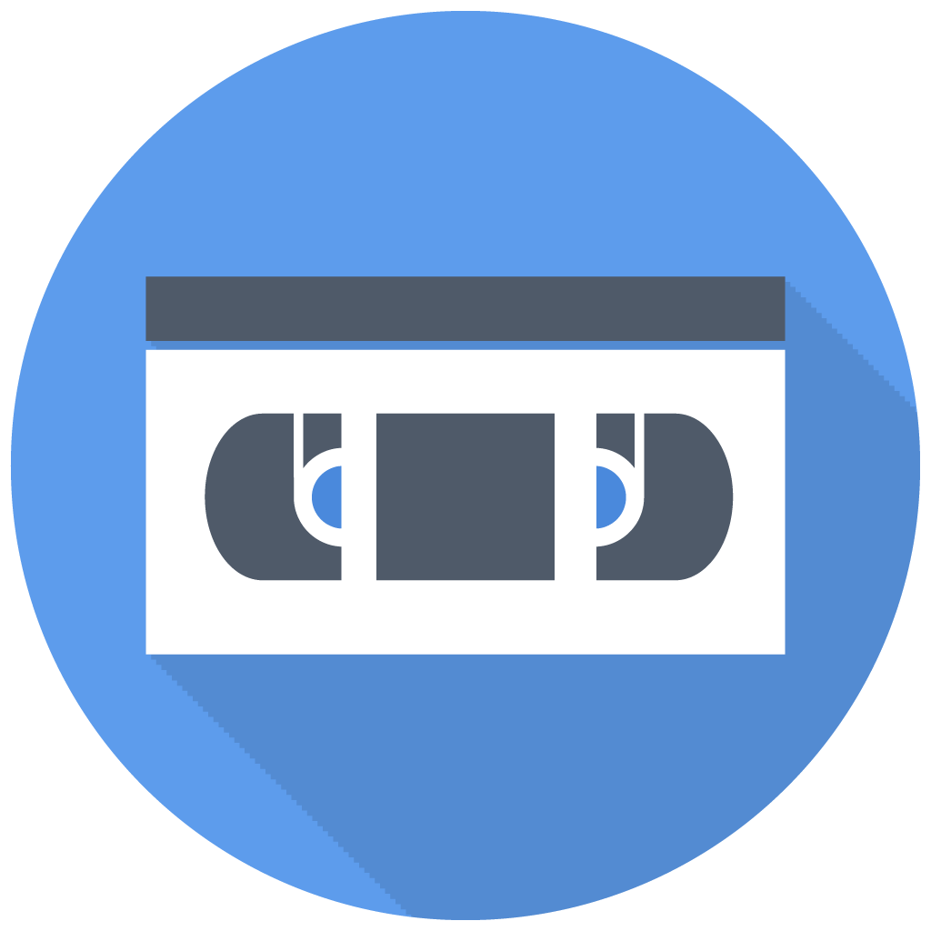 Vhs icon free multimedia. Technology clipart flat design