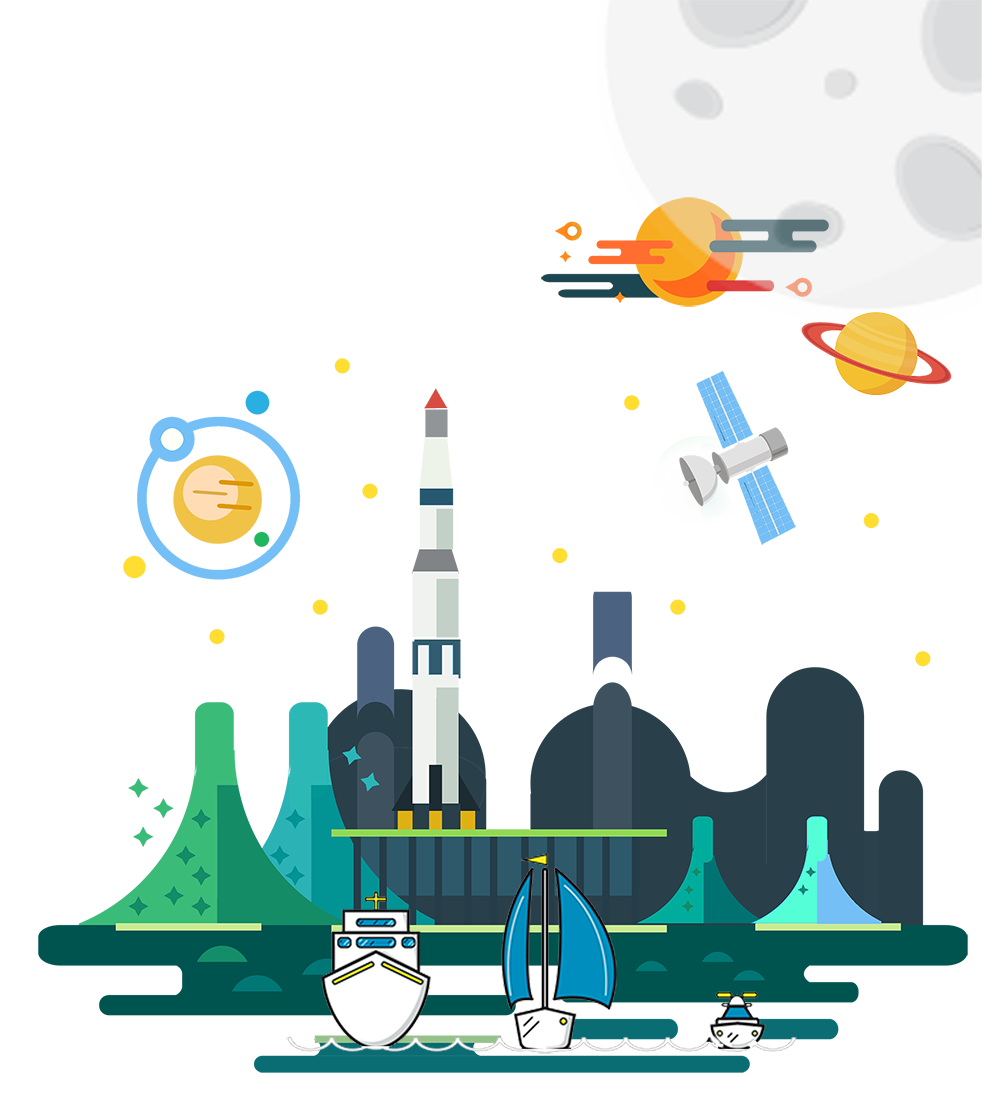 Technology clipart space technology. Flat design outer black