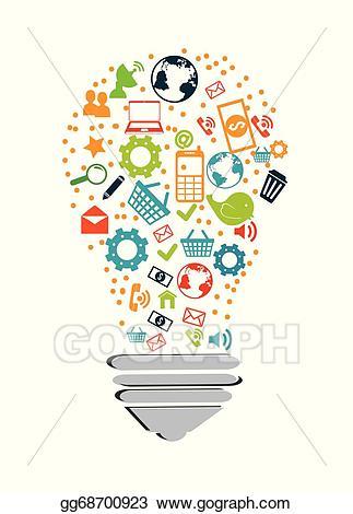 Vector design illustration . Technology clipart technolgy