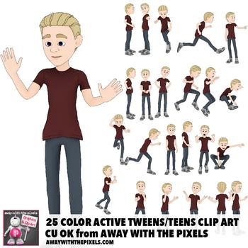 Teen clipart.  youth tween actions
