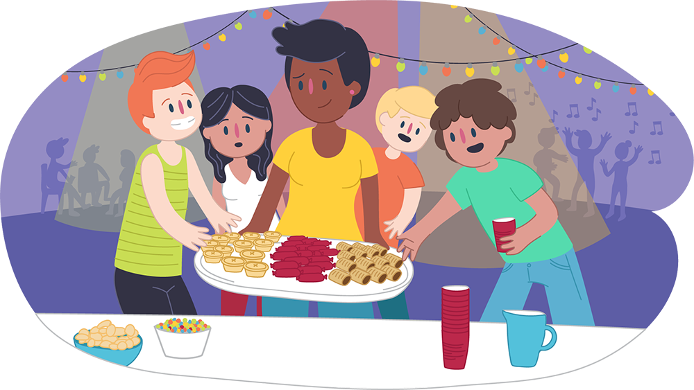 Hosting a safe party. Teen clipart healthy teenager