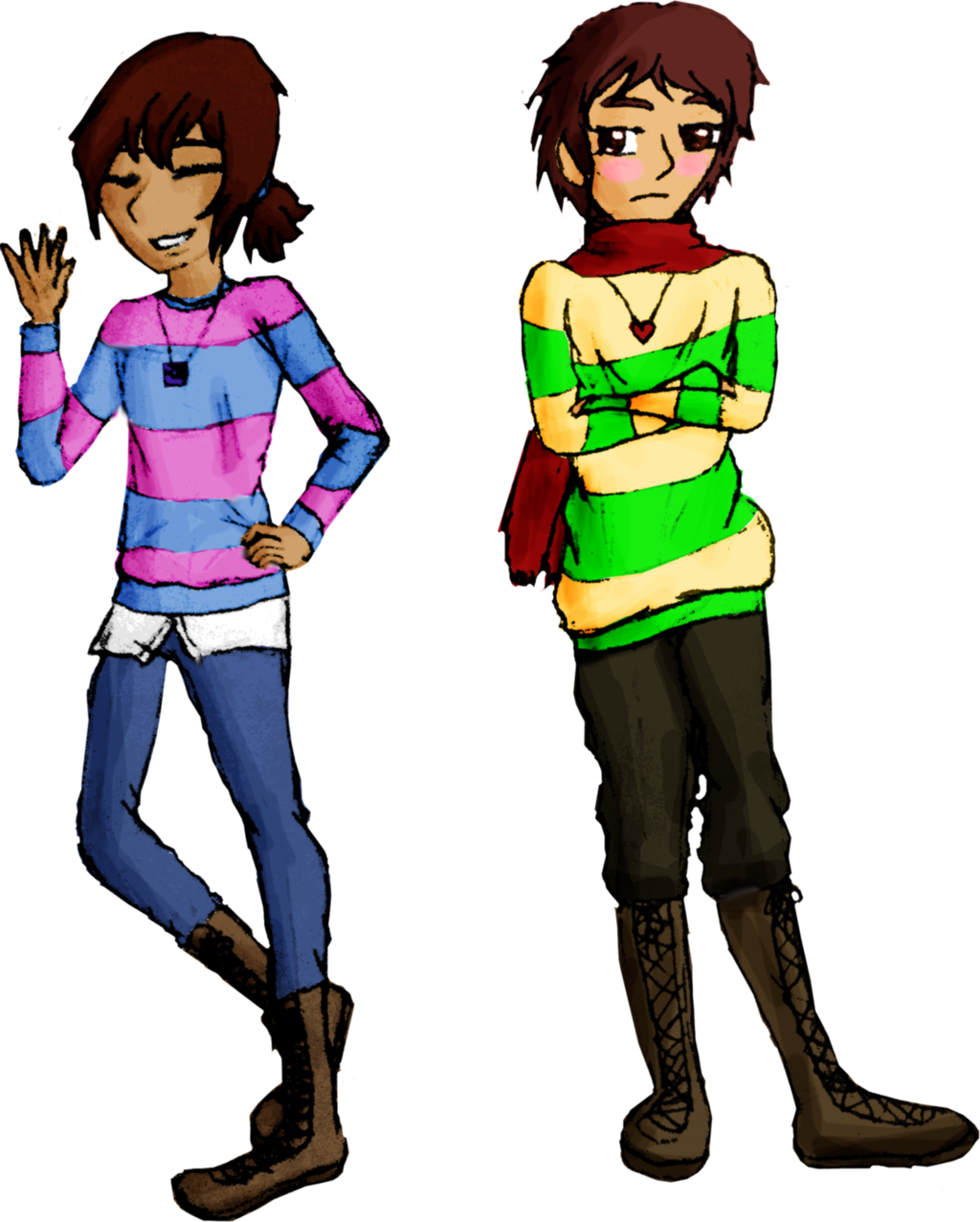 Teen clipart human boy. Frisk and chara by