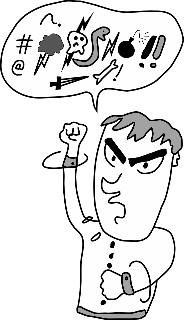 Yelling clipart unnecessary. People who swear may