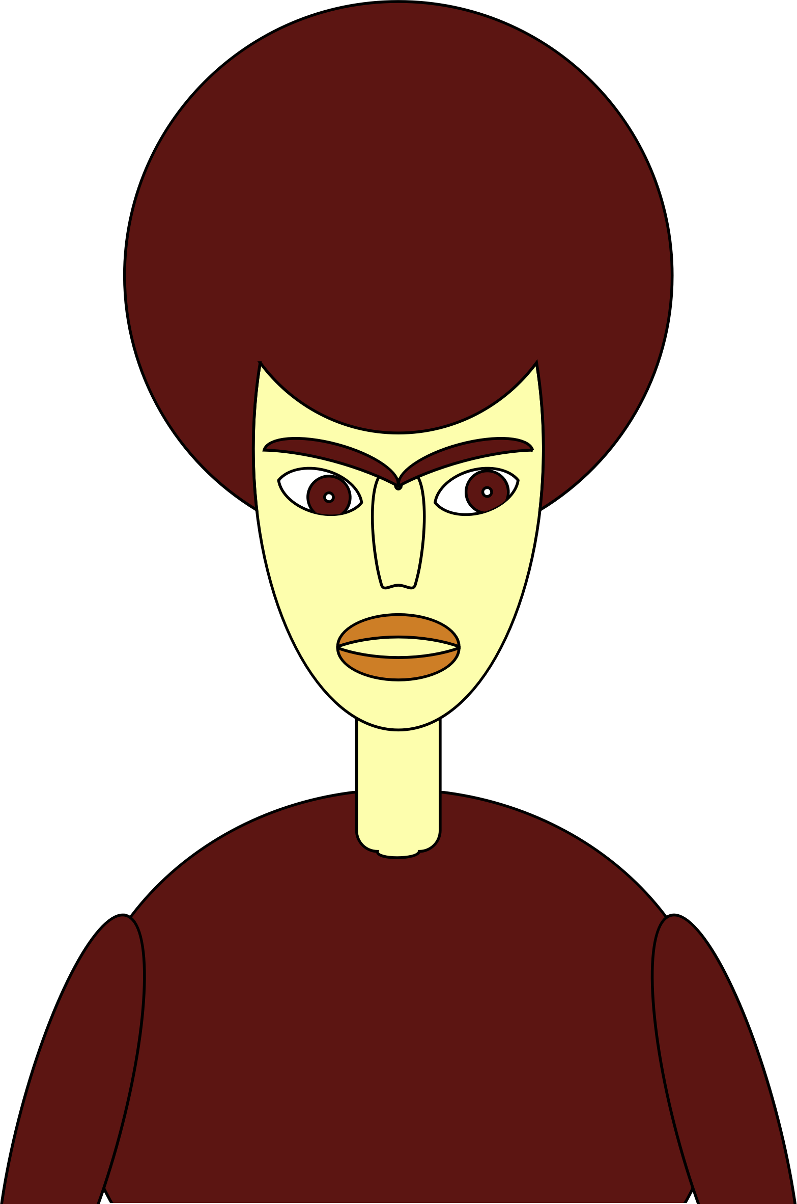 Bruno the brown haired. Teen clipart person