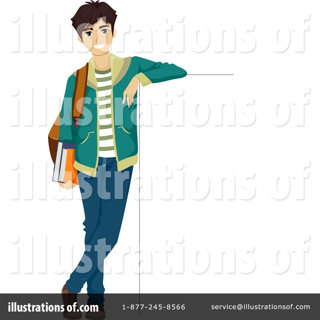 Teenage boy illustration by. Teen clipart person