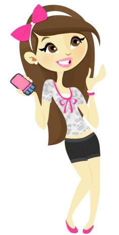 Teenage girls outline cute. Teen clipart phone clipart
