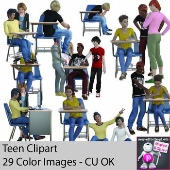 General realistic secondary . Teen clipart student teenager