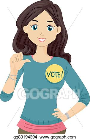 Teen clipart student teenager. Eps illustration girl council