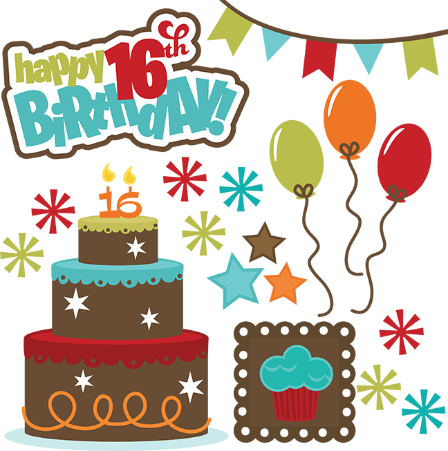 Happy th birthday files. Teen clipart svg
