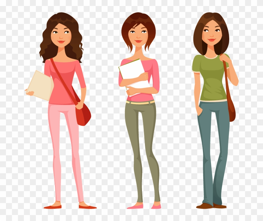 Teen clipart teenager cartoon. Adult girl cliparts image