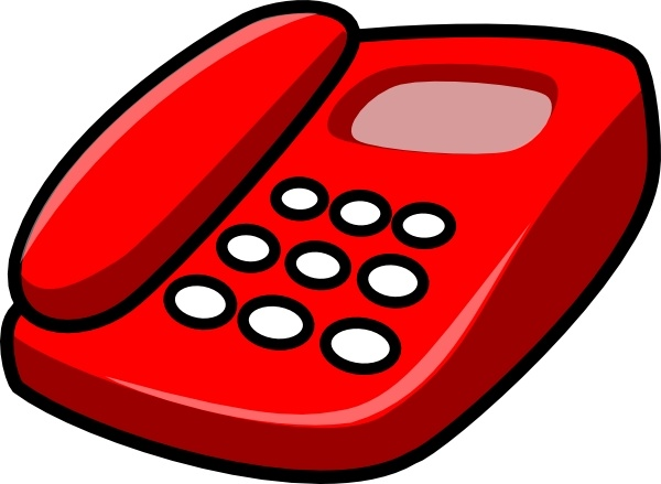 Telephone clipart. Vector for free download
