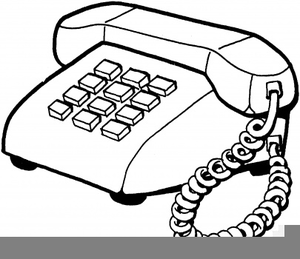 Black White Telephone Clipart | Free Images at Clker.com - vector ...