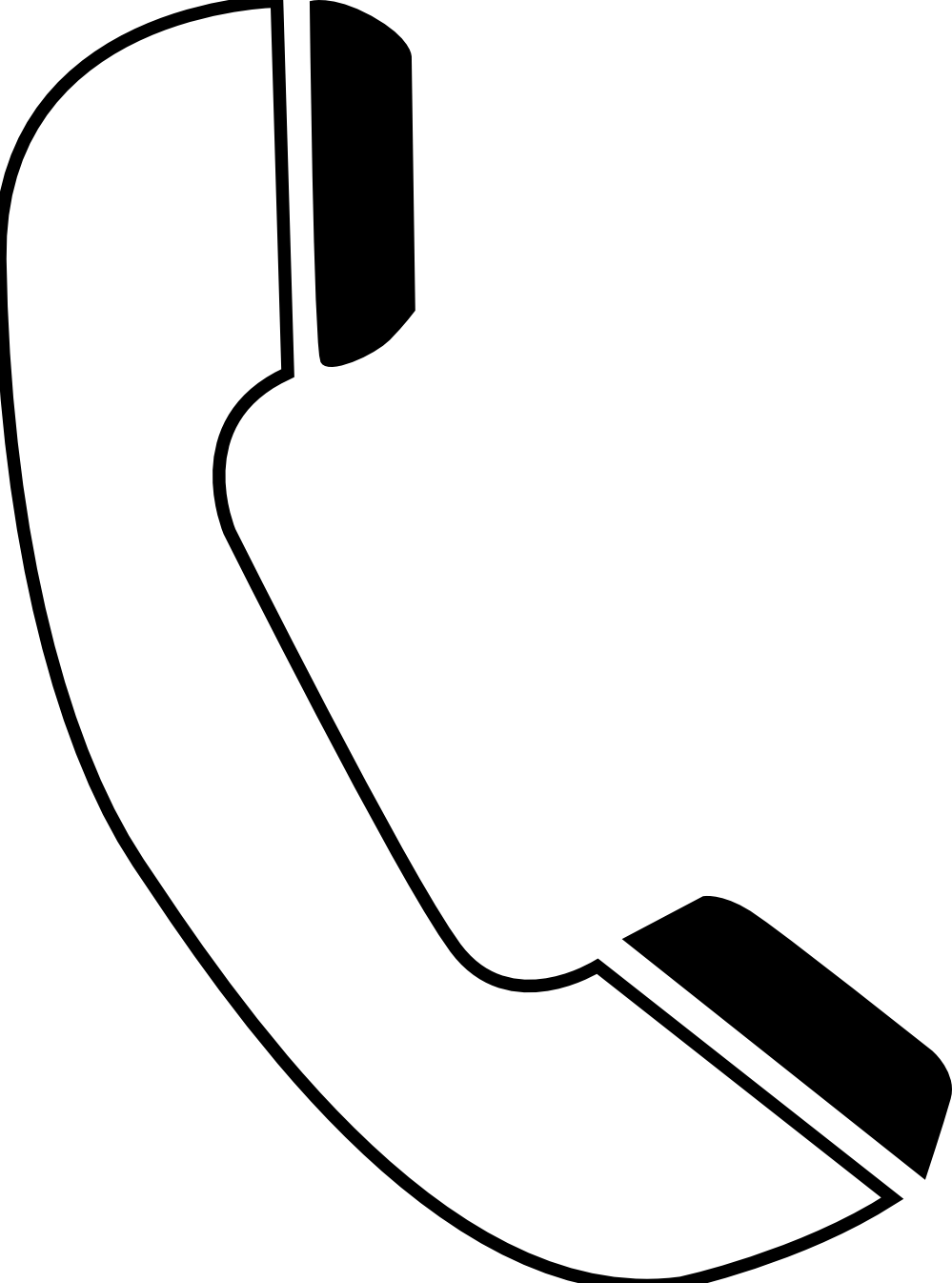 Phone Clipart Black And White