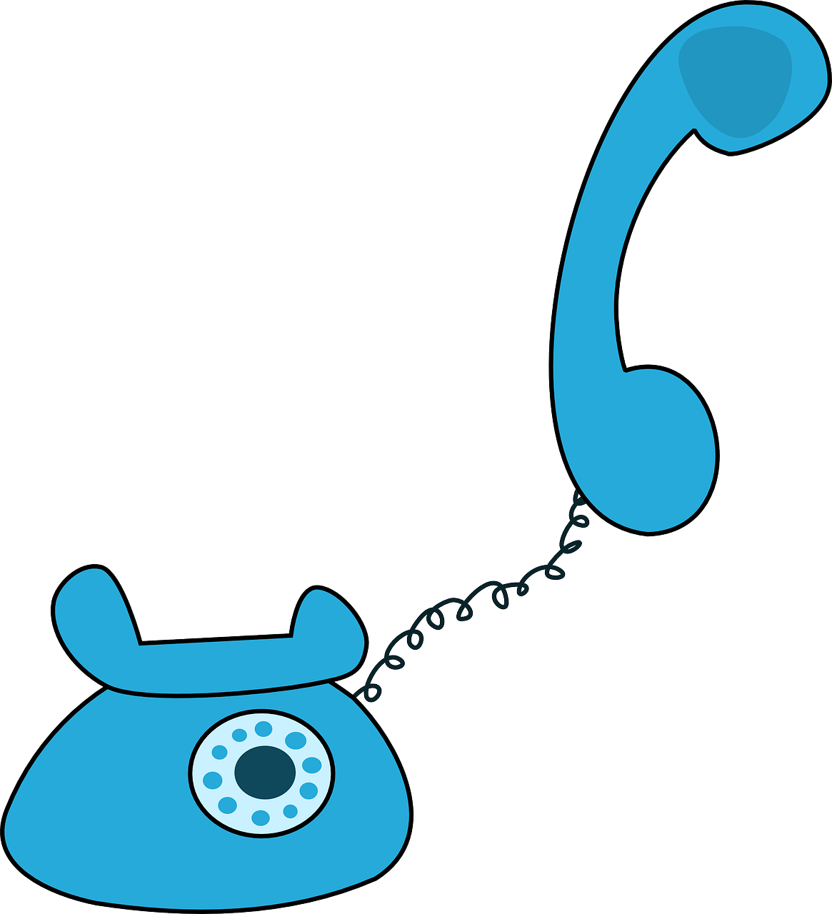 collection of phone. Telephone clipart blue
