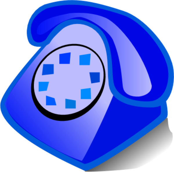telephone clipart blue