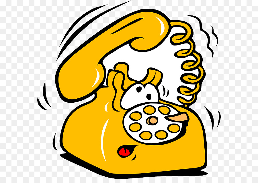 Telephone clipart cartoon. Transparent clip art