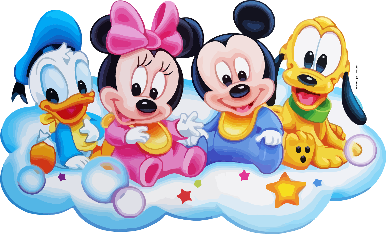 Telephone clipart friend. Mickey friends on cloud