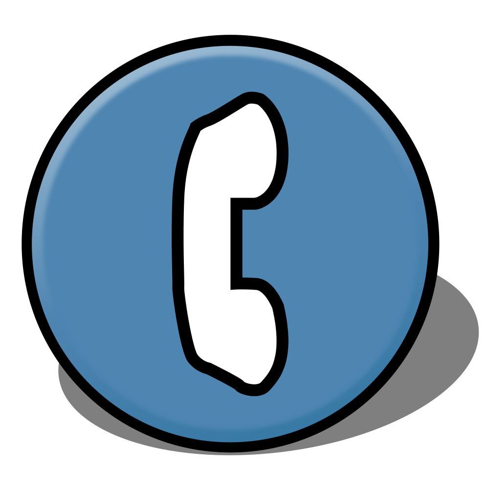 Telephone clipart number. File map symbol svg