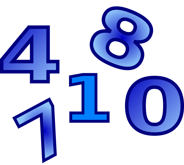Numbers clip art at. Telephone clipart number