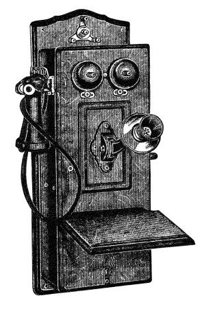 Antique clip art black. Telephone clipart old fashioned telephone