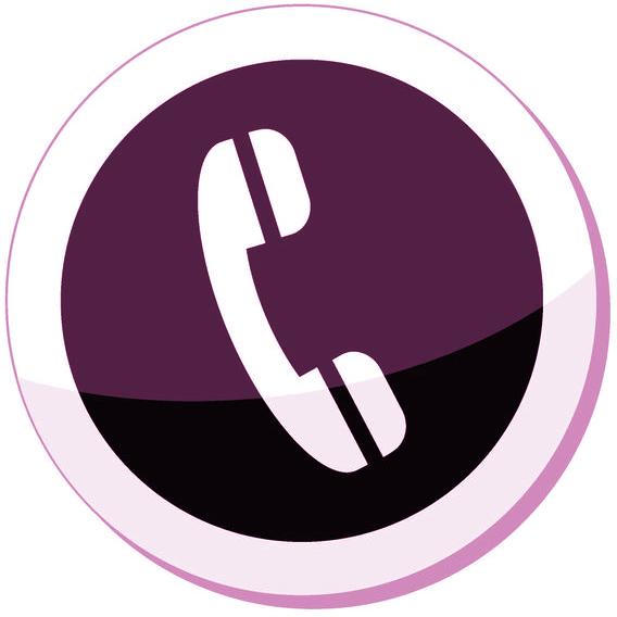 Customer service phallix europe. Telephone clipart purple