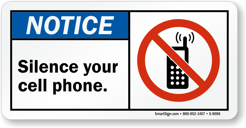 Telephone clipart sign. Silence cell phone boat