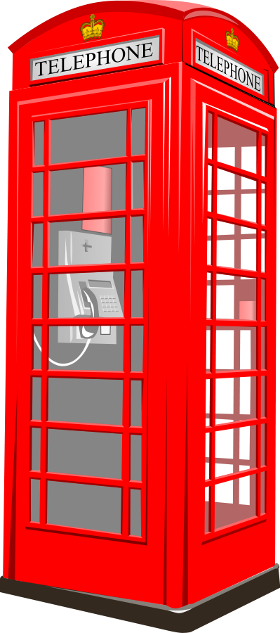 London phone booth clip. Telephone clipart vector