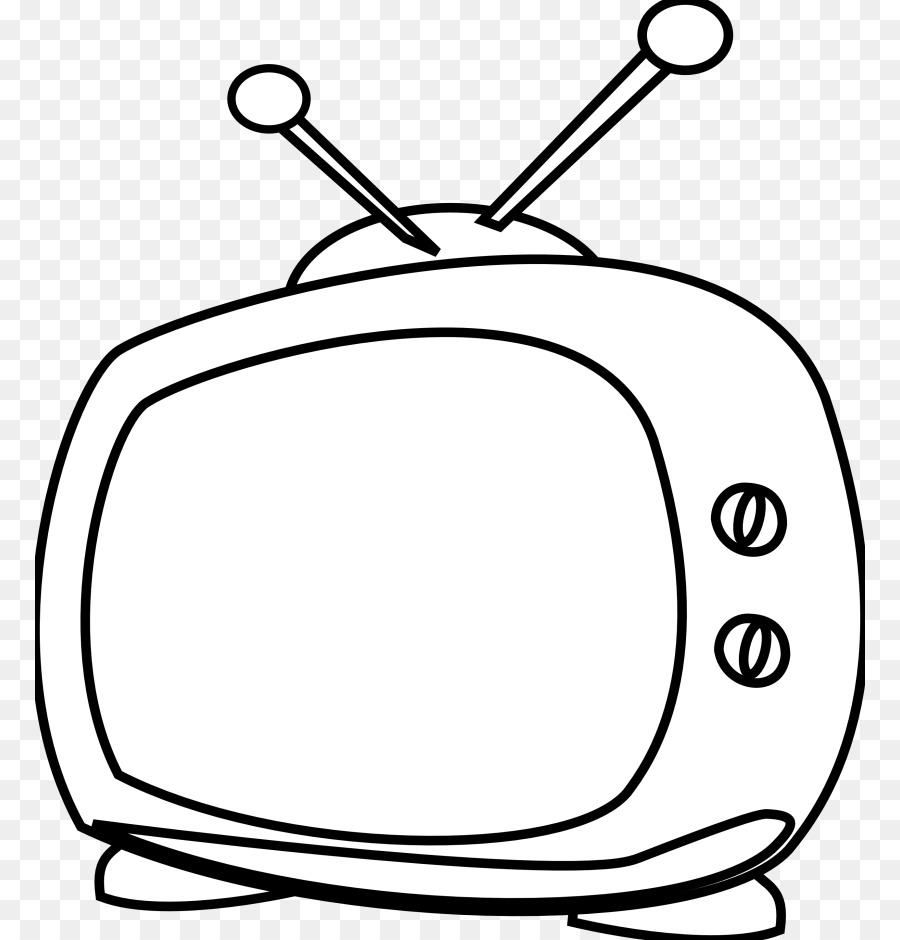 Cartoon black and white. Television clipart