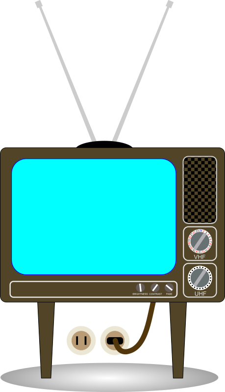 Television clipart. Old clip art billigakontaktlinser