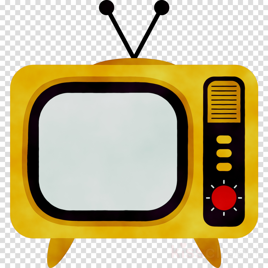 Television clipart. School bus cartoon illustration