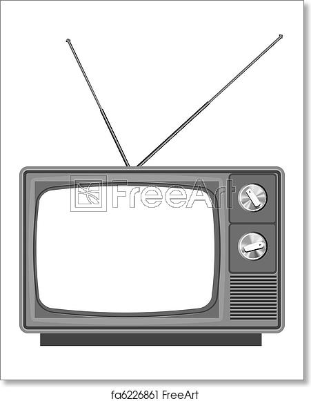 Television clipart blank tv. Free art print of
