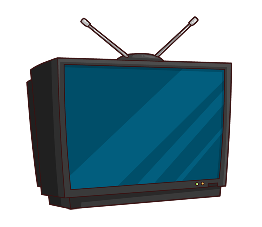 Free cartoon cliparts download. Television clipart blue tv