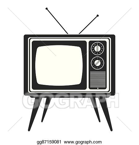 Eps illustration retro with. Television clipart classic tv