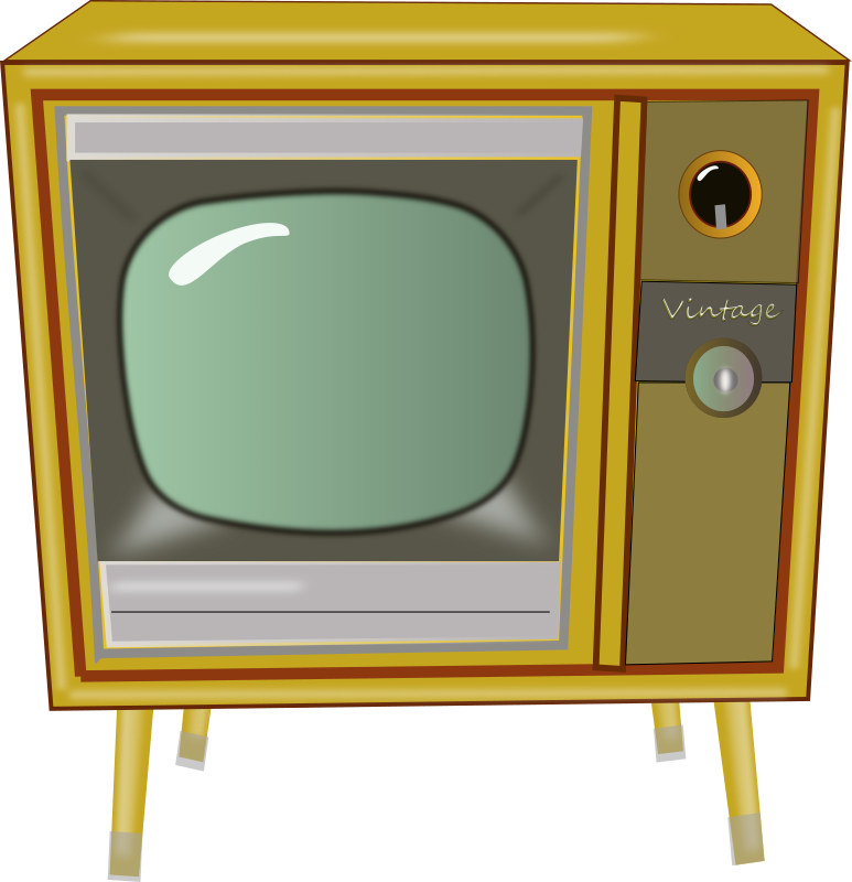 Television clipart clip art. Old vintage tv by