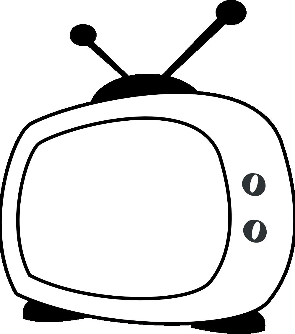Television clipart coloring. Clipartist net clip art