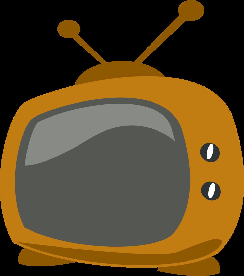 Television clipart colour tv. Public domain clip art