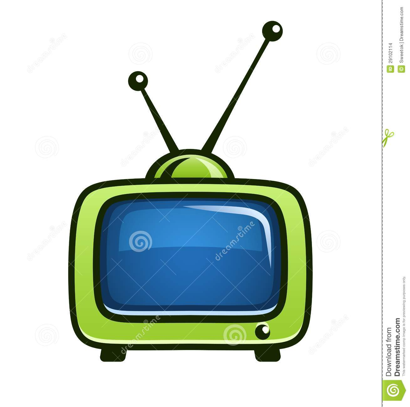 Old tv free download. Television clipart green