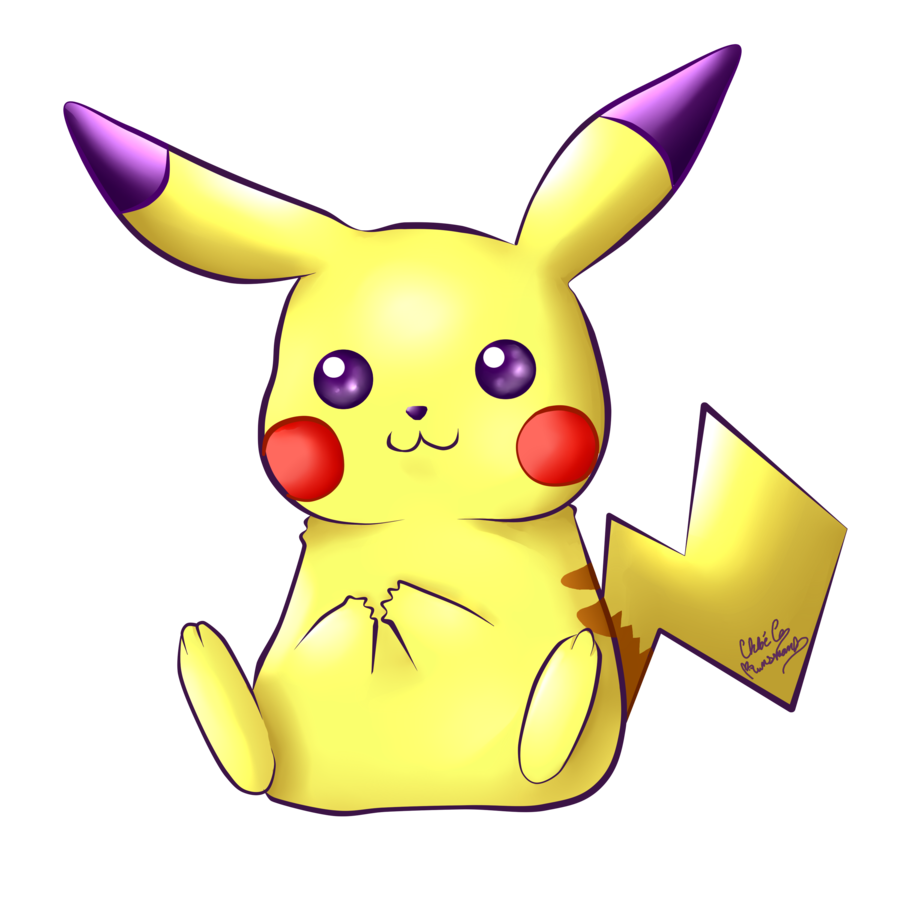 Television clipart kawaii. Pikachu by chloeisabunny on