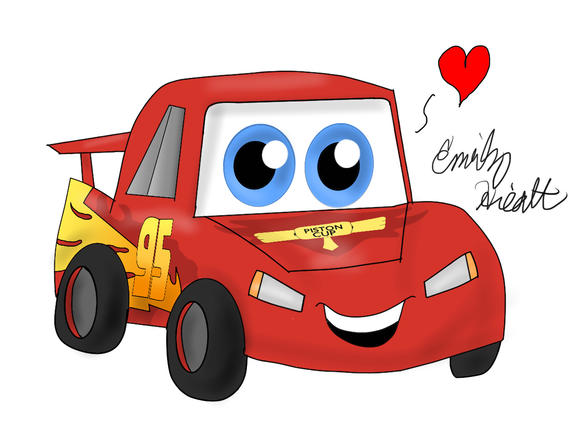 Television clipart kawaii. Lightning mcqueen by jewuo
