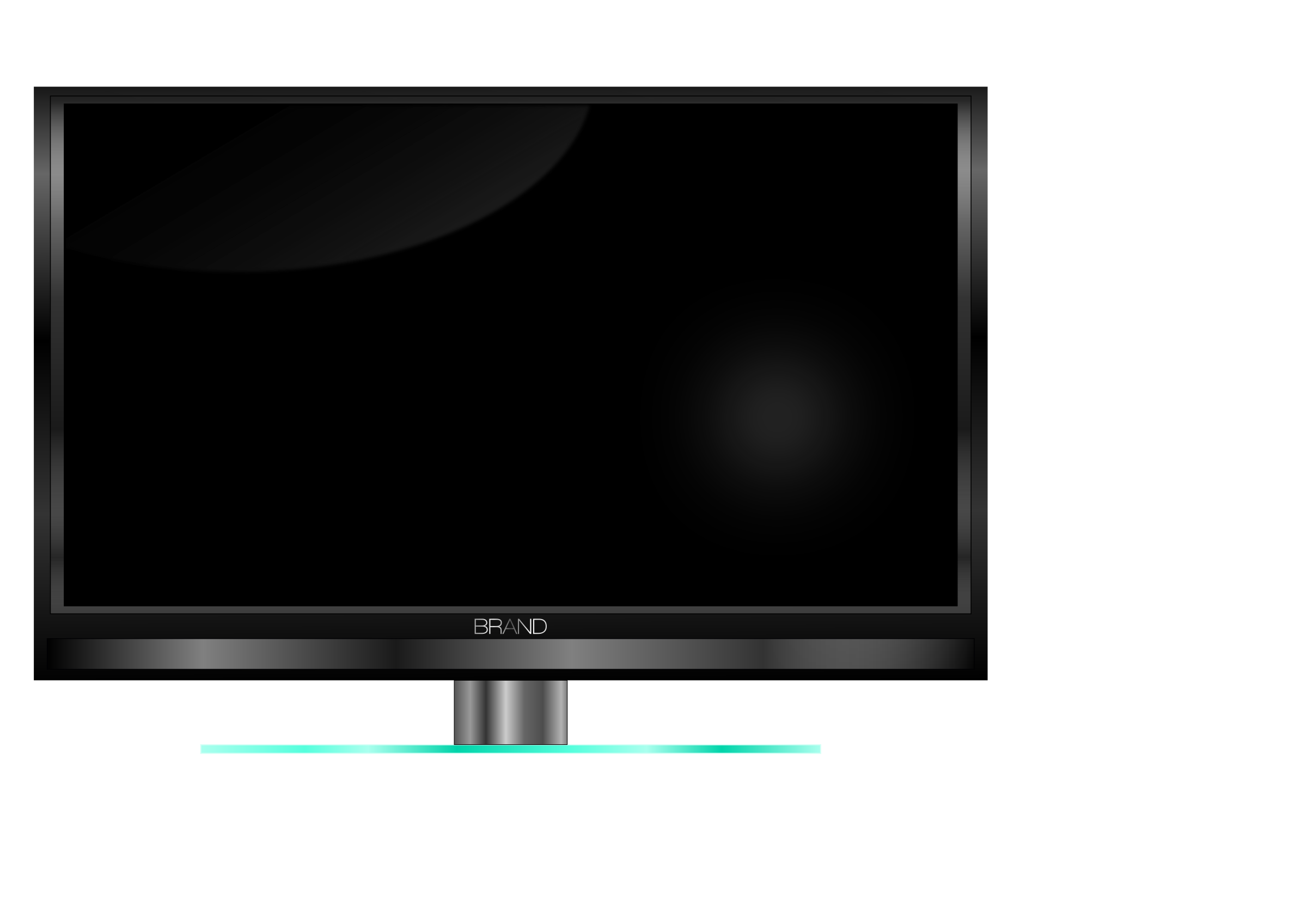 Television clipart lcd tv. Led plasma de big