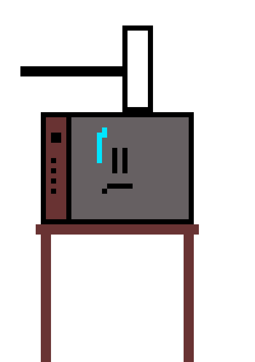 television clipart old furniture