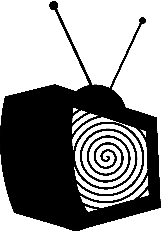 Television clipart outline. Tv clip art black