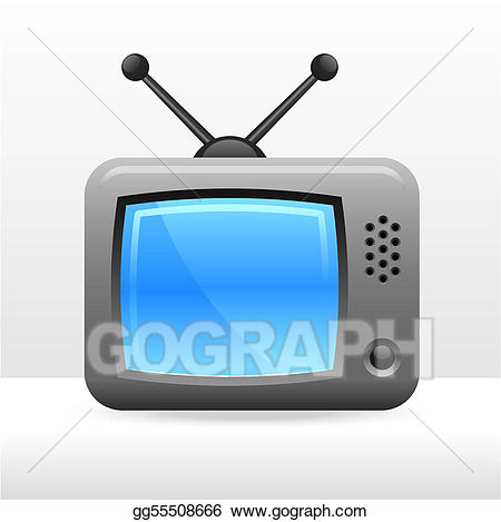 Television clipart simple. Vector illustration set eps