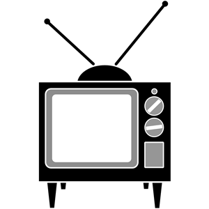 Television clipart simple. Cliparts of