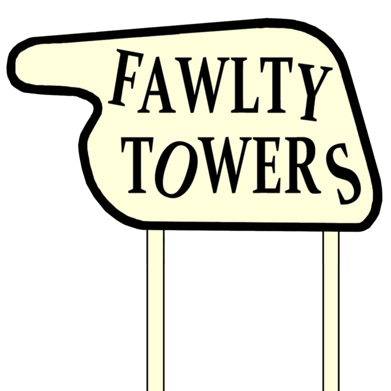 Television clipart sitcom. Fawlty towers best tv