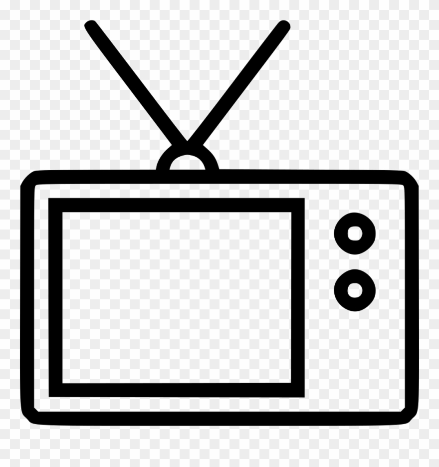 Television clipart small tv. Old antenna comments